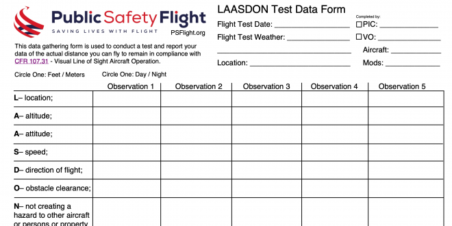 Looking for Public Safety Pilots as Flight Tester for CFR 107.31